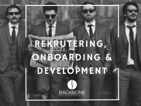 Rekrutering, onboarding, development, recruitment
